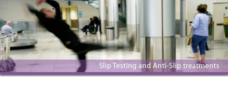 slip testing and anti-slip treatments leicester.